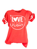 LOVE AT FIRST FLIGHT AVIATION T-SHIRT