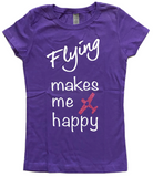 FLYING MAKES ME HAPPY CHILDREN TEE
