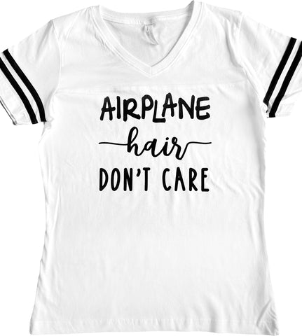 airplane hair don't care dare to fly apparel fashion