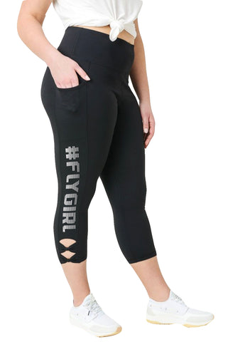 FLYGIRL CAPRI LEGGINGS POCKET