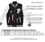 JUST PLANE HAPPY LETTERMAN JACKET