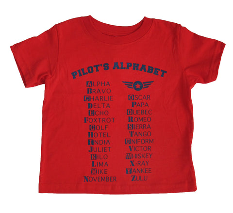 PILOT'S ALPHABET CHILDREN TEE