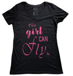 THIS GIRL CAN FLY AVIATION T-SHIRT