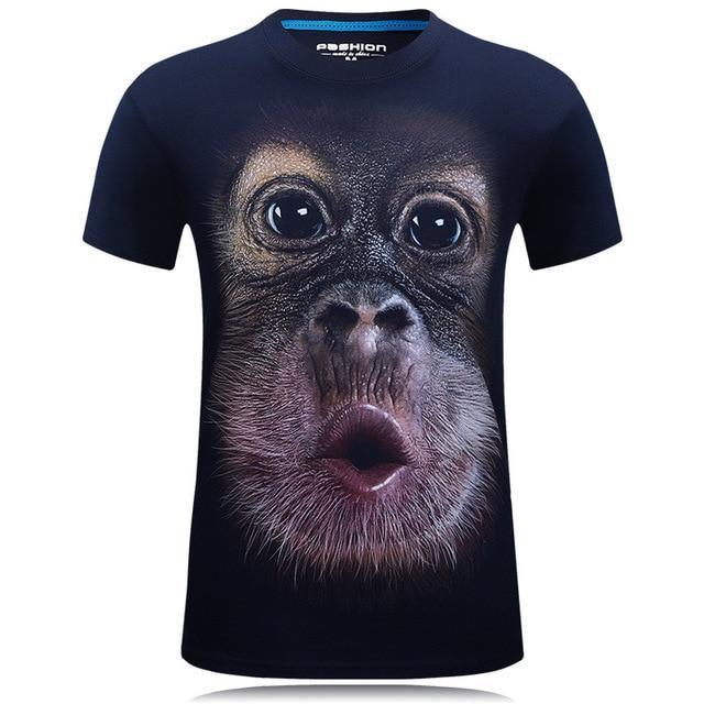(BUY TWO FREE SHIPPING) Wacky 3D Monkey Tee