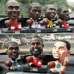 (Hot selling 1000 items)NBA Basketball Star Decoration Car Ornaments Shake Head Dolls Birthday Gift Home Decor