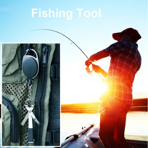 Fishing Quick Knot Tool Fly Fishing Clippers Line Nipper Tying with Zinger