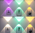 Up and down luminous color wall lamp
