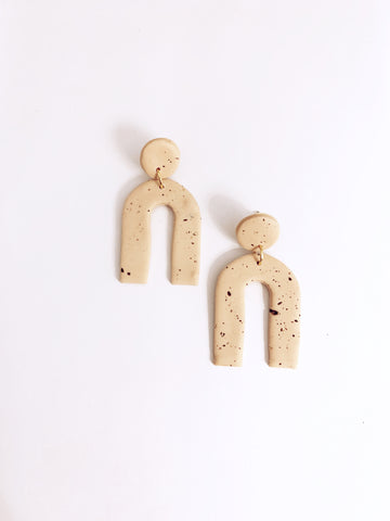 Speckled Arc Blush Earring - The Bamboo Rack