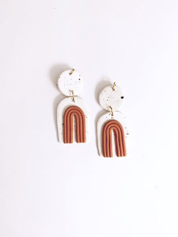 Francis Clay Earrings - Rosewood - The Bamboo Rack