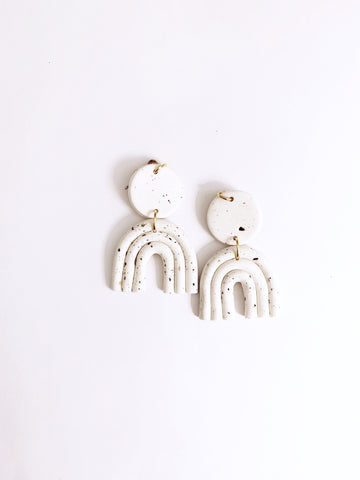 Speckled Astrid Earring in White - The Bamboo Rack