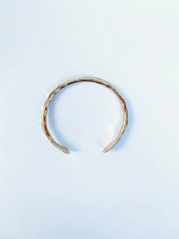 Gold Hammered Cuff Bracelet - The Bamboo Rack