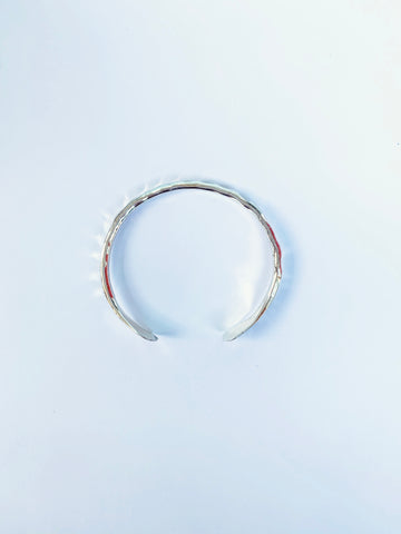 Silver Hammered Cuff Bracelet - The Bamboo Rack