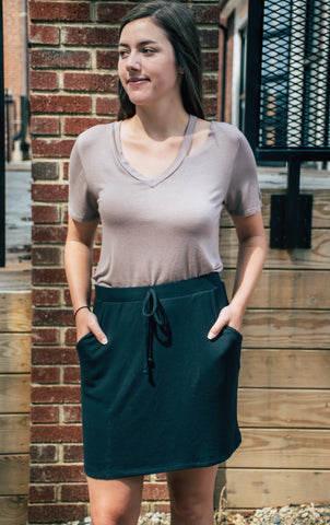 Sarah Skirt - Charcoal - The Bamboo Rack
