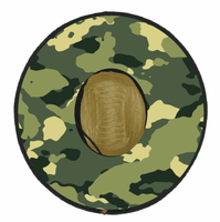 Straw Fishing Hat - Camo Print