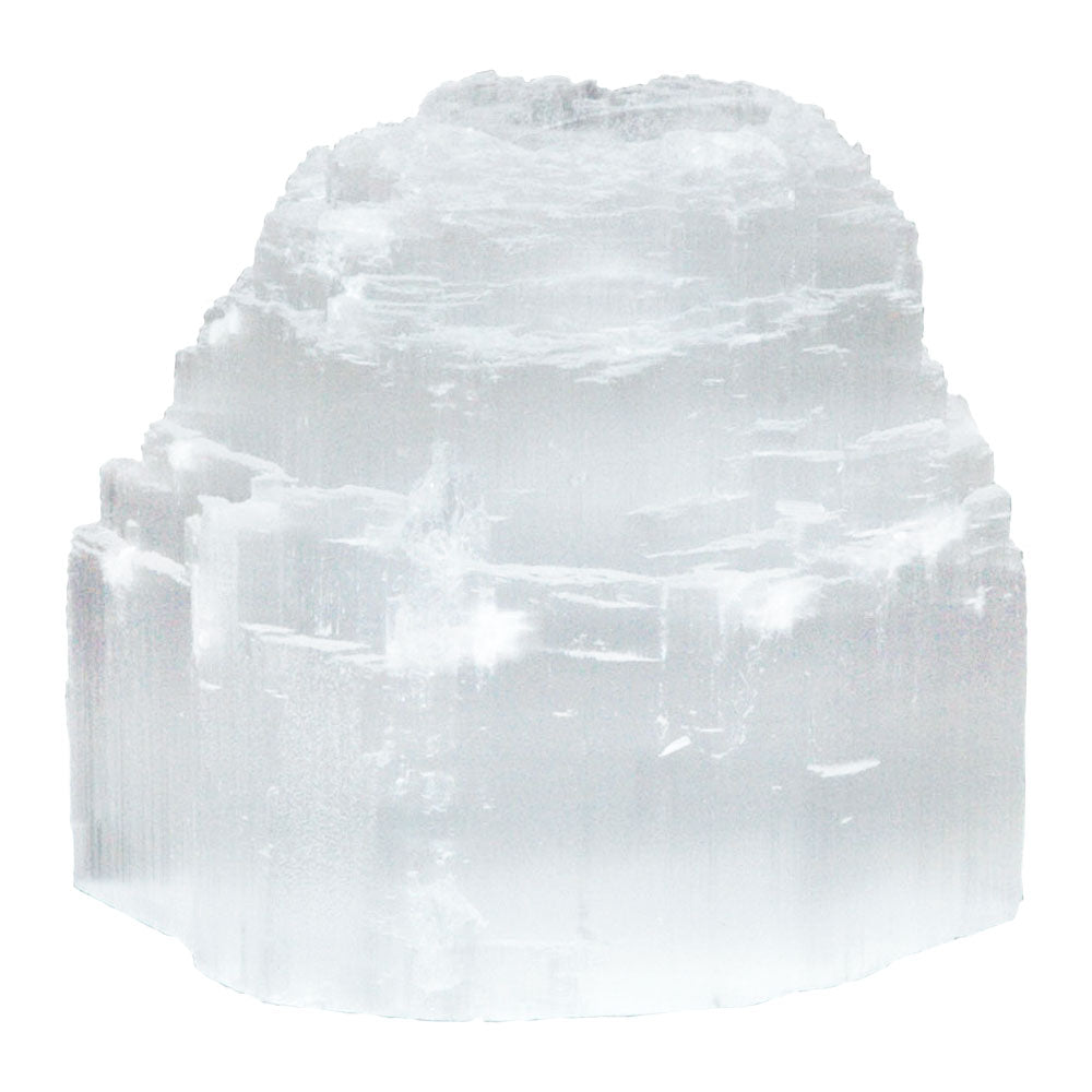 Selenite Iceberg Tea Light Holder