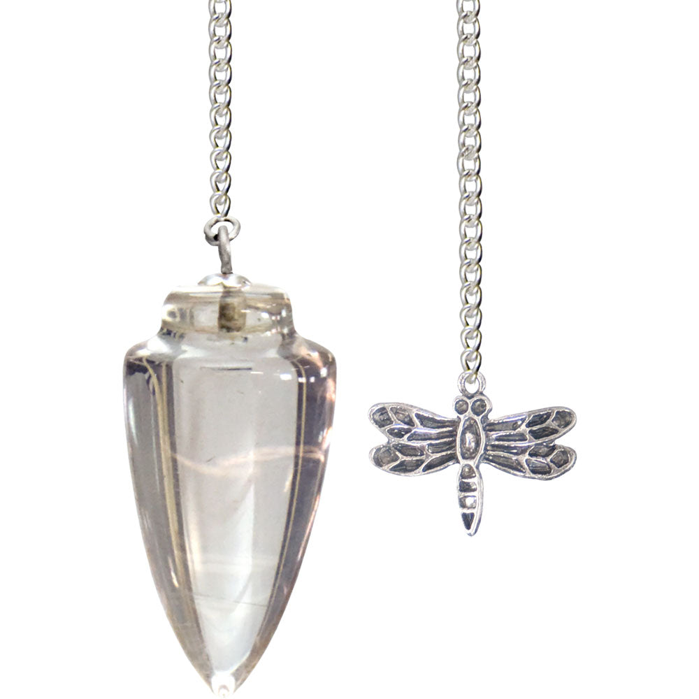 Pendulum Clear Quartz with Dragonfly