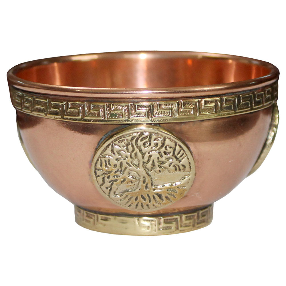 Tree of Life Copper Incense Bowl
