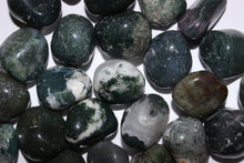 Load image into Gallery viewer, Tumbled Green Moss Agate