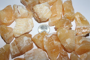 Rough Yellow Banded Calcite