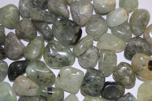 Tumbled Prehnite With Epidote