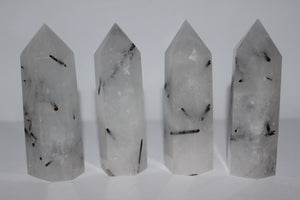 Tourmalinated Quartz Polished Points