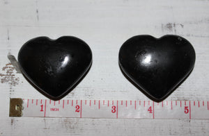 Black Tourmaline Hearts