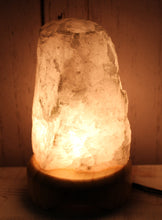Load image into Gallery viewer, Rose Quartz Lamps on wood base