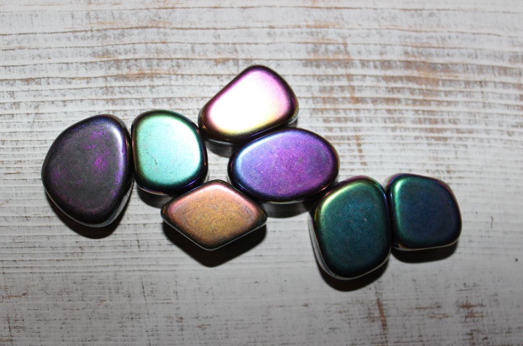 Tumbled Magnetic Rainbow Hematite