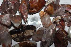 Tumbled Amphibole Quartz