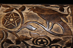 Carved Raven Chest