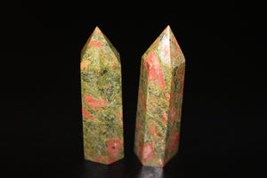 Unakite Polished Point 3-4""