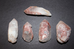 Rough Natural Fire Quartz Points 1-2""