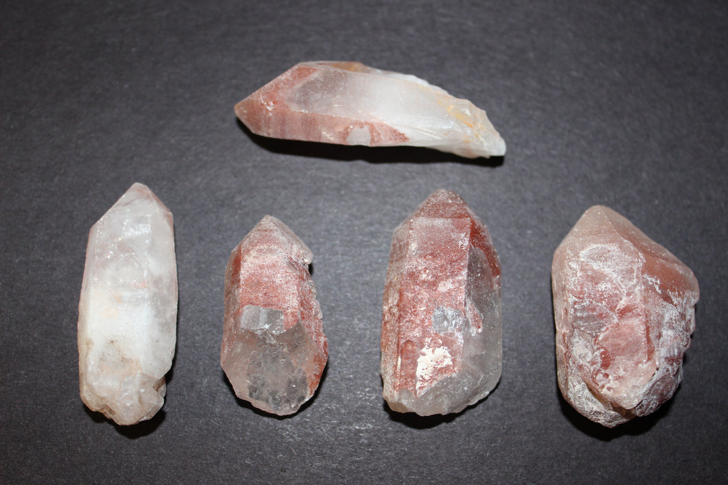 Rough Natural Fire Quartz Points 1-2