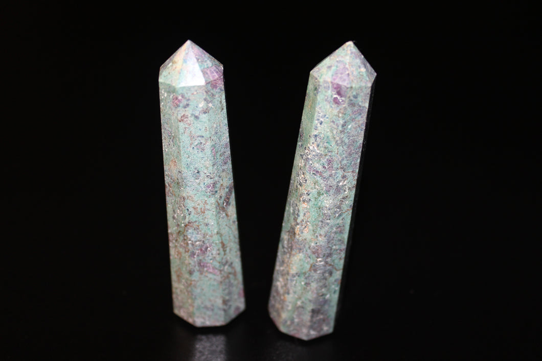 Ruby In Fuchsite Polished Points 3-4