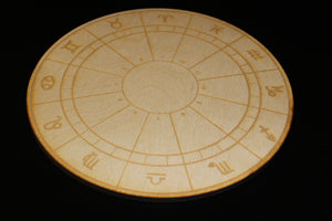 "10"" Birch Wood Engraved Crystal Grids"