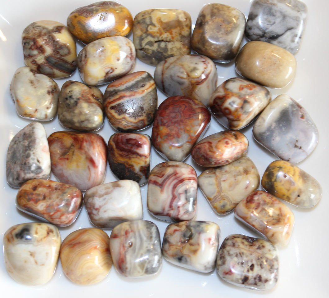Tumbled Crazy Lace Agate