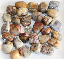 Load image into Gallery viewer, Tumbled Crazy Lace Agate