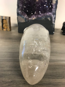 Clear Quartz Alien Skull #2