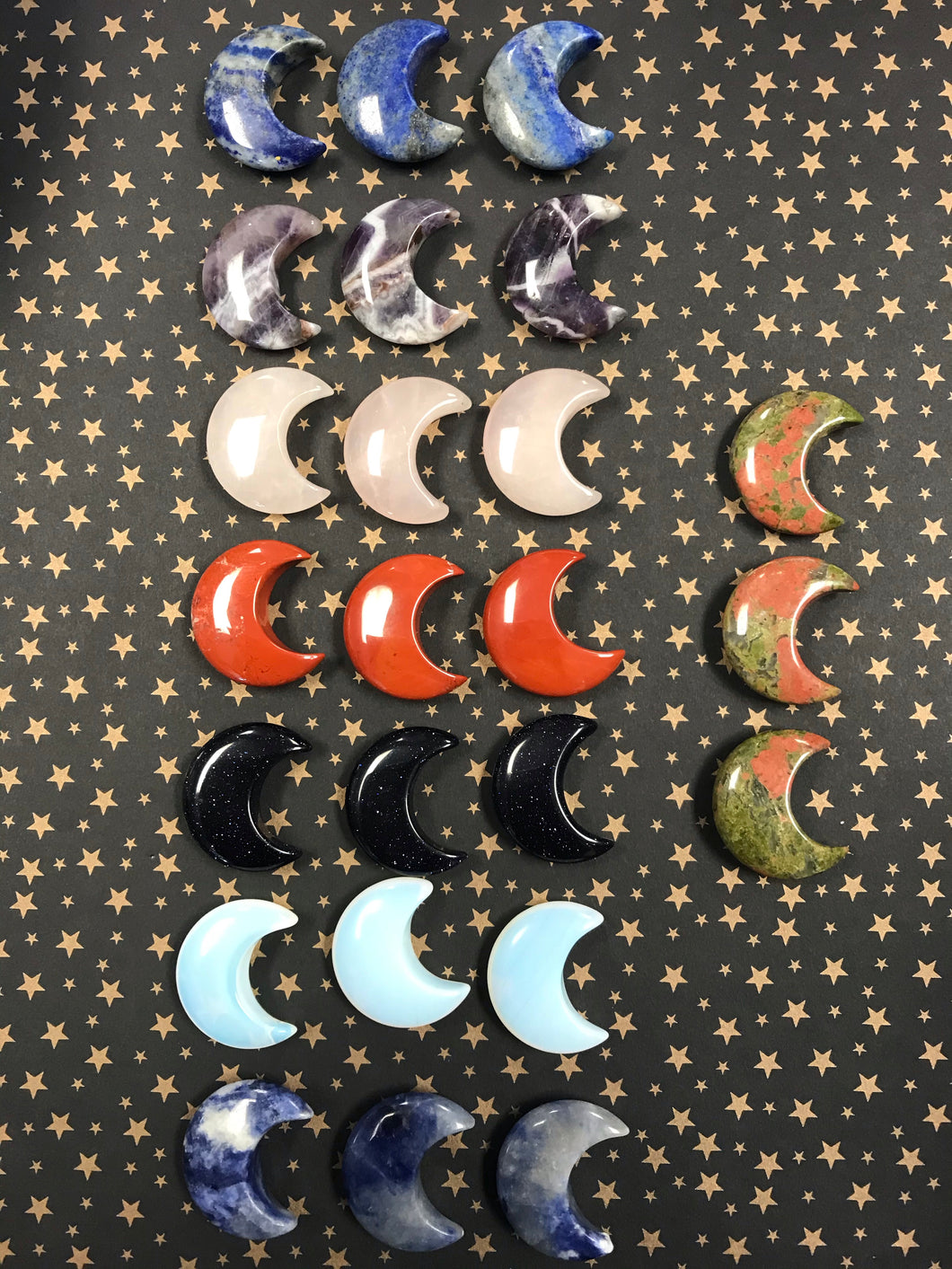 Assorted Gemstone Moons