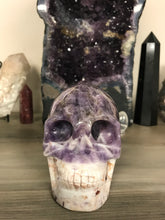 Load image into Gallery viewer, Chevron Amethyst Skull