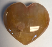 "Load image into Gallery viewer, Hematoid Puff Hearts ""Golden Healer Quartz"""