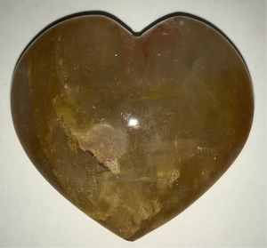"Hematoid Puff Hearts ""Golden Healer Quartz"""
