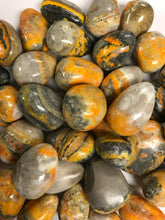Load image into Gallery viewer, Tumbled Bumble Bee Jasper