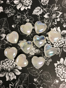 25mm Angel Aura Quartz Hearts