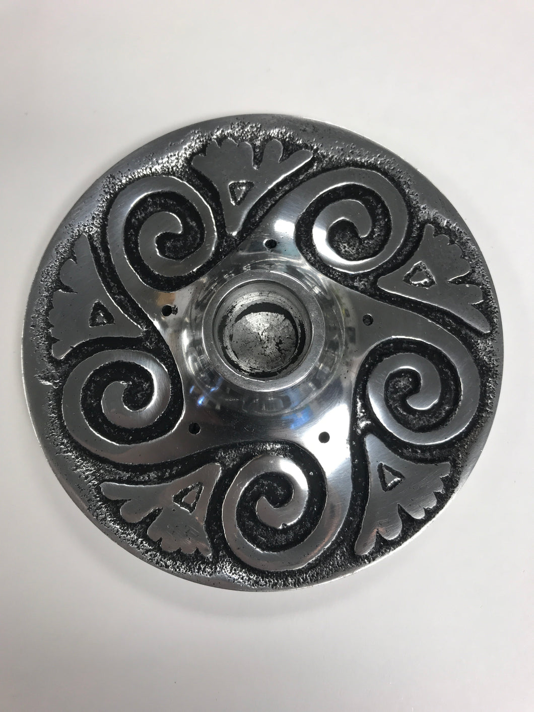 Spiral Metal Burner/Chime Candle Holder