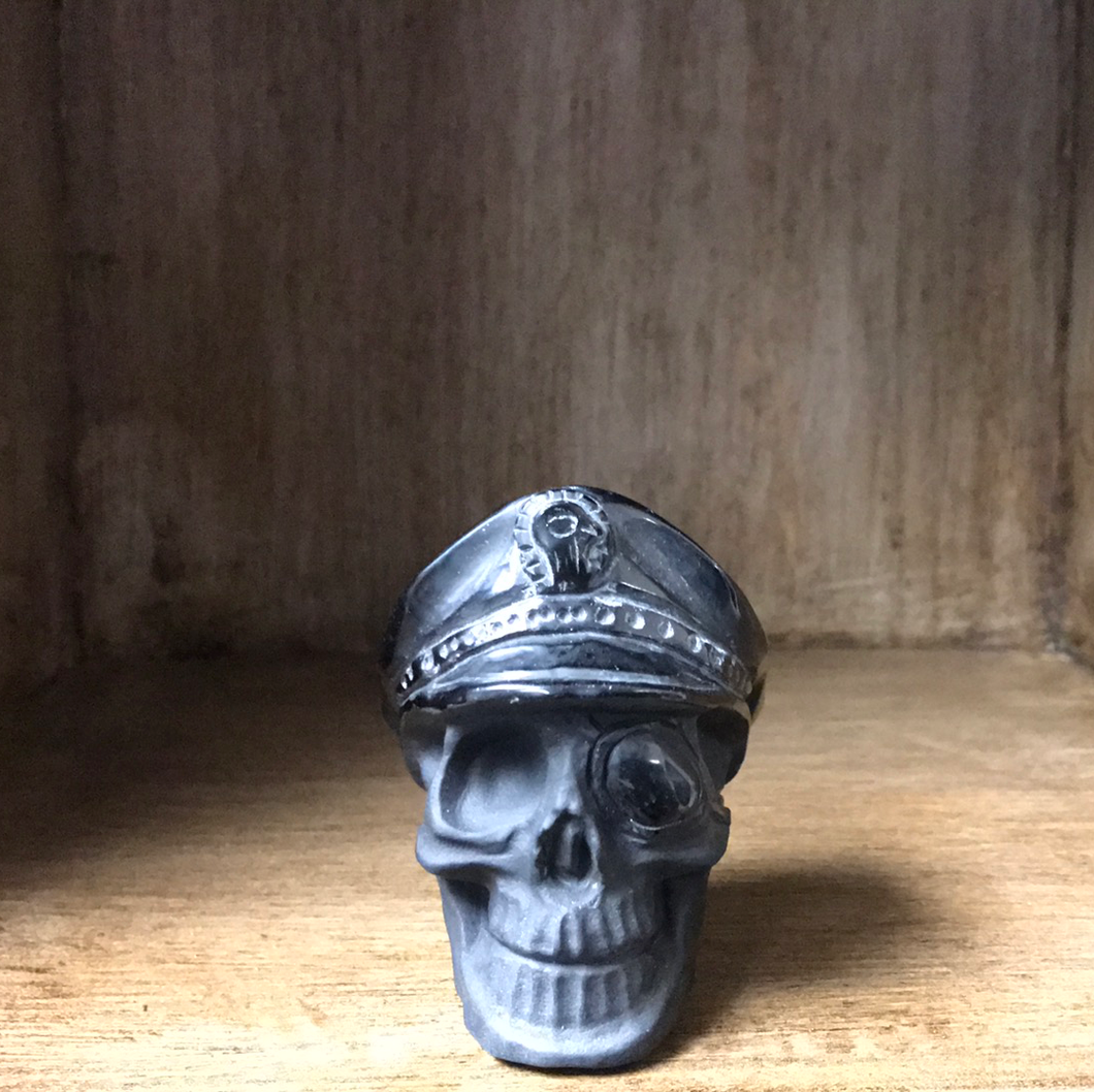 Black Obsidian Pirate Skull