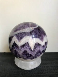 70-80mm Chevron Amethyst Sphere
