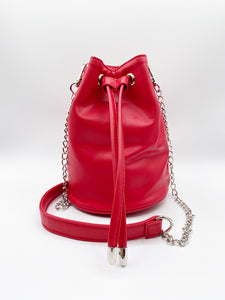 Alana Bucket Bag With Chain Detail In Red