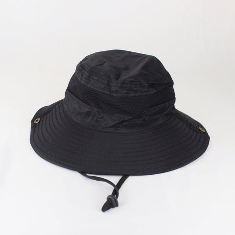 BLACK SAFARI HAT - svnx