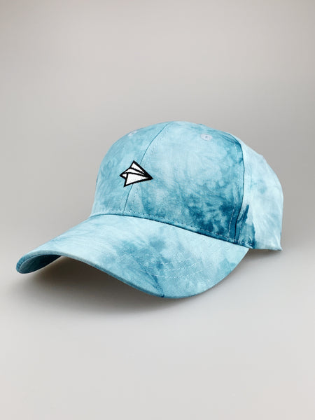 Cappy Paper Airplane Embroidery Tie Dye Cap